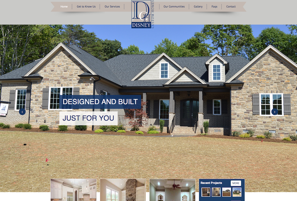 Greensboro Custom Home Buider website design