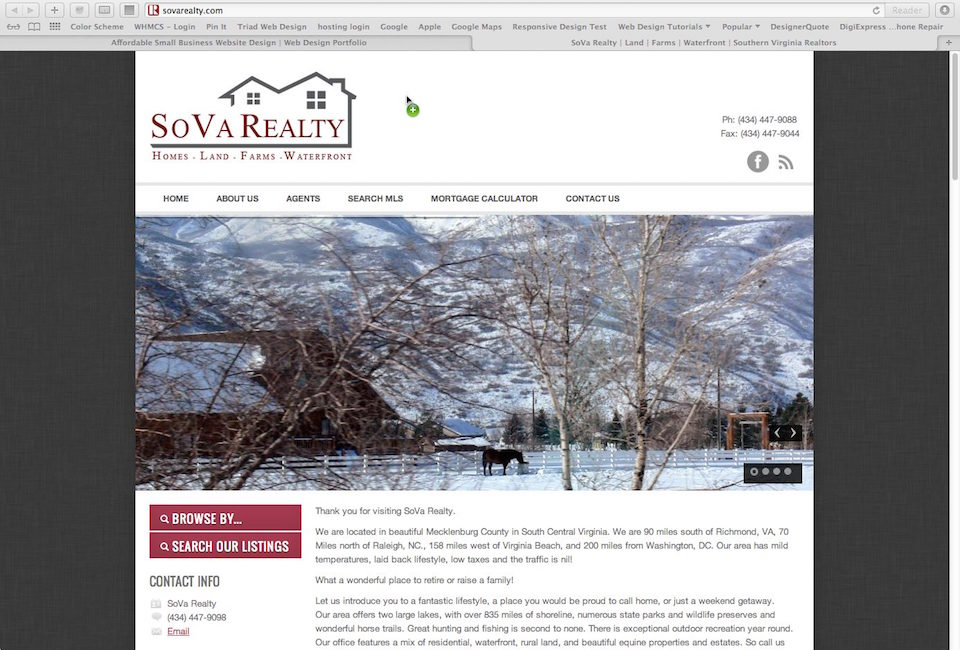 real estate website designer