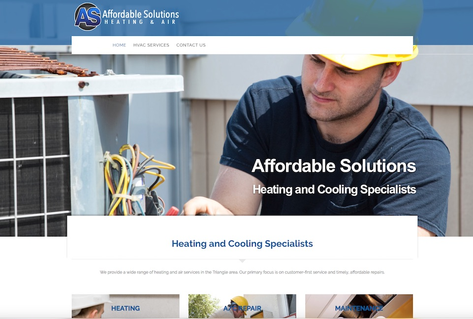 Heating and Air website