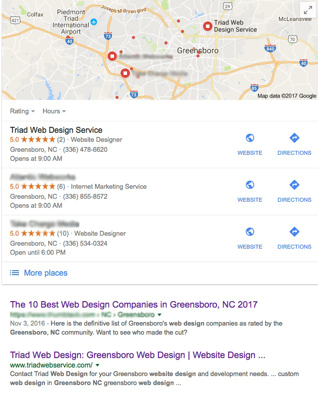 Greensboro local search engine optimization
